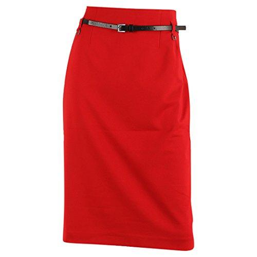 Women's 'Rimini' Knee-Length Pencil Skirt,True Crimson,12 (Petite Linen Pencil Skirt)