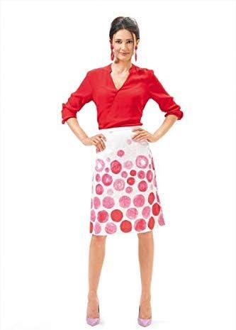 Burda-6682 Burda Ladies Easy Sewing Pattern 6682 Slightly Flared Skirts
