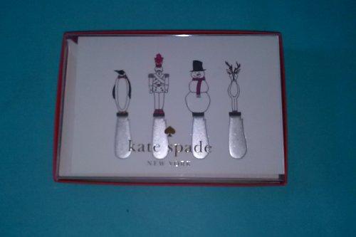 Crane & Co kate spade TF3115 Spreading Good Cheer Foldovers 10 Notes 10 Envelopes 3 15/16'' x 7 1/2'' 100% Cotton Paper Lined Envelopes Inside: Spreading Good Cheer by Kate Spade New York