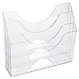 Rubbermaid Optimizers Wall-Mounted Multi-Purpose Organizer, 3-Pocket, Clear (96050ROS)- 2 Pack