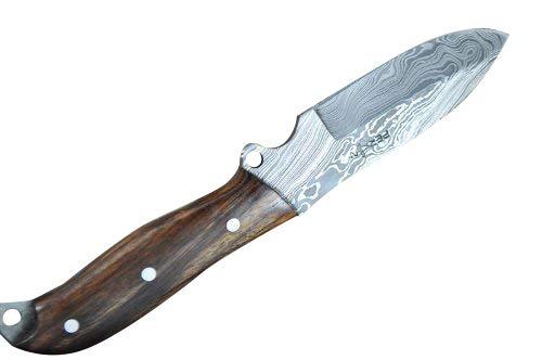 Perkin Knives Cuchillo de caza hecho a mano de acero damasco ...