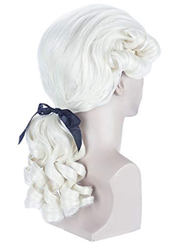 Angelaicos Unisex Colonial Wig Long Layered Judge Cosplay