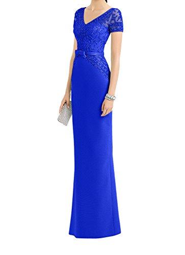 Standsamt La Abendkleider Braut Brautmutterkleider Kurzarm Lang Kleider Blau Spitze mia Etuikleider Ballkleider Royal wO8O4q