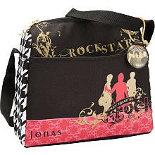 Jonas Brothers Rock Stars Messenger-Style Lunch Tote Bag (Brothers Jonas Rock)