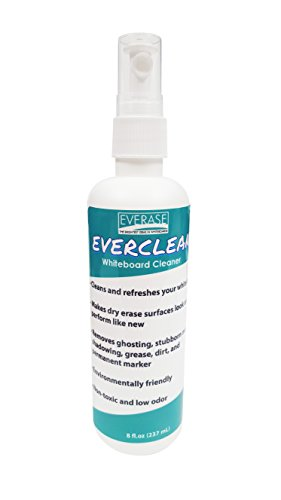 Everase EverClean Whiteboard / Dry Erase Board Liquid Cleaner, Non-Toxic, 8 fl oz. spray bottle