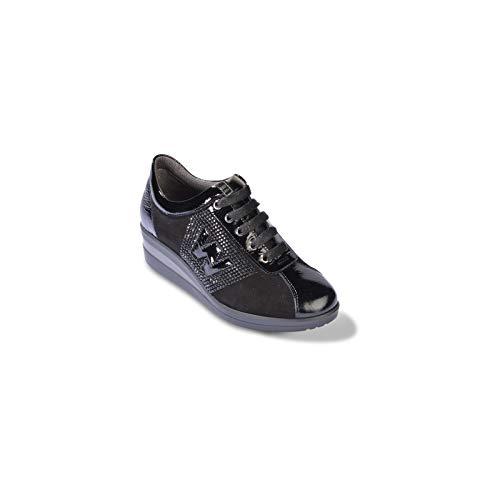 R25828 Melluso En Chaussure Daim black Femme Noir qwTqAZ