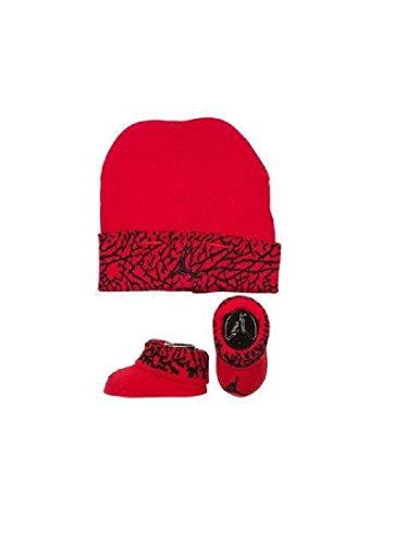 (Nike Air Jordan Elephant Print Hat & Booties Set 0-6 Months)