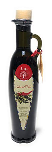 Dell'Orto PiccantOlio (Pepper) Olive Oil | Infused With Hot Chili Peppers | International Award Winning | Family Estate Near Amalfi Coast Of Italy | In Business Since 1870 | 8.45 fl oz