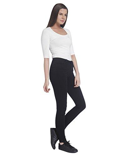 Nero Moda Vmseven Vero black Slim Smooth Nw Black Donna Ss Noos Jeans Black vTffqdxp