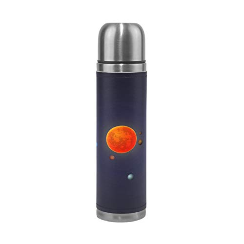 imobaby Elegant Solar System Leak Proof Water Bottle Insulated Double Vacuum Stainless Steel Thermos 500ML by imobaby