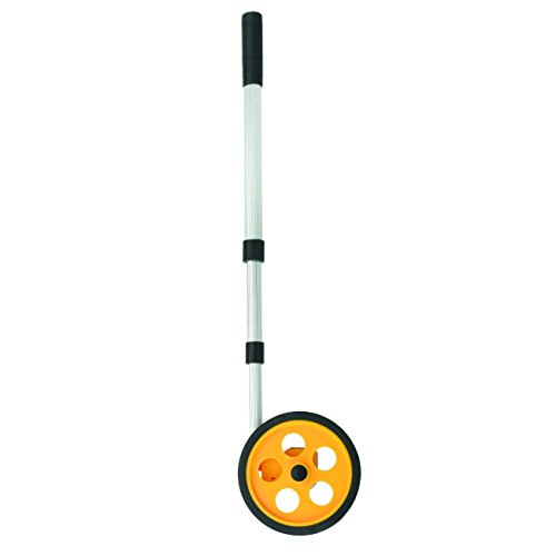Tooluxe 01594L Rolling Measuring Wheel | 10,000 Feet | Large LCD Display | Telescoping Handle (Wheel Metric Measuring)
