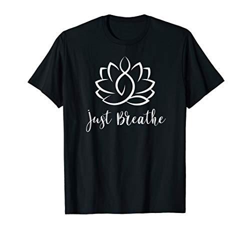 Just Breathe Buddha Lotus Flower Meditation Yoga T-Shirt ()