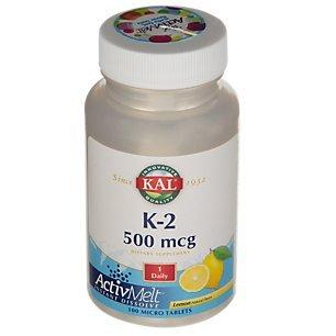 Kal K-2 ActivMelt, Lemon 100 Tabs 500 mcg