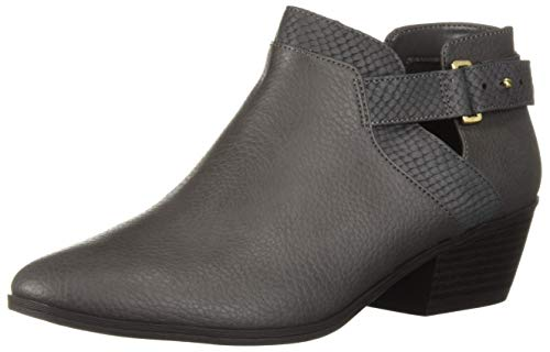 Dr. Scholl's Shoes Women's Brink Ankle Boot, Sharkskin Grey Snake Print, 8.5 M US