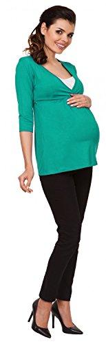 Zeta Ville - mujer - maternidad enfermería camiseta - superior camisa S-3XL - 372c Verde Azulado