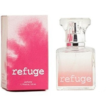 Charlotte Russe Refuge Perfume 1.7 Ounce Blended Pink Box Retired Version Raspberries Peach Green Apple and Sandalwood from Charlotte Russe