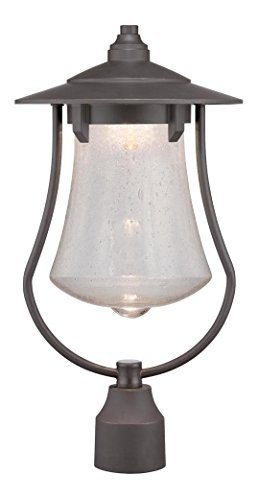 Aged Bronze Patina Paxton 1 Light LED Lantern Post Light by Designers Fountain