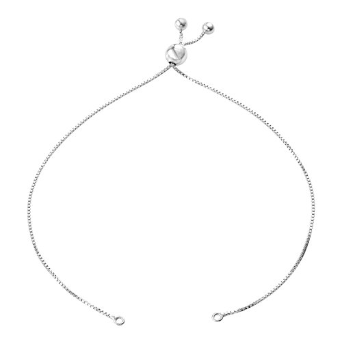 Workshop Gems (Gem Workshop Bolo Bracelet in Rhodium Plated Silver)
