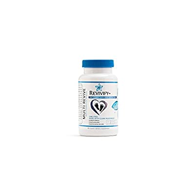 Revivify GMO-Free Prenatal Vitamins & Whole Food Supplements for Women – Ultraformulated Multivitamin With Folic Acid + Biotin + Vitamins A, C, D-3, E, K-1, B-1, B-2, B-3, B-6, B-12 + Calcium + Iron