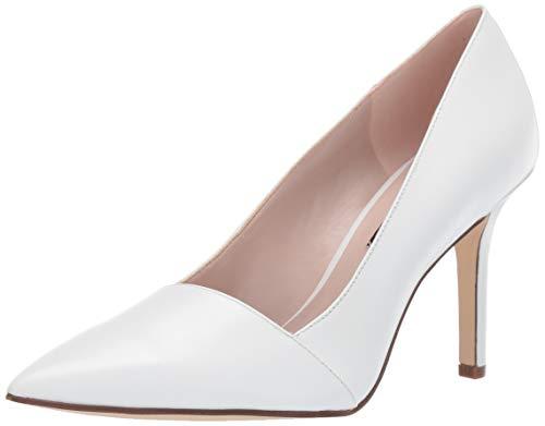 Nine West Womens Manque Pump White/White 8.5 M
