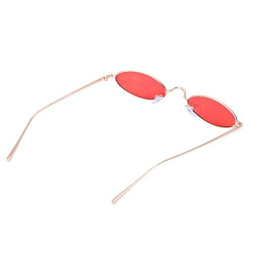 S8011 de Eyewear women redondas sol TOOGOO Gafas Ladies de Mujeres retro Vintage de pequenas Amarillo sol Gafas rojo Gafas sol zgqfx4
