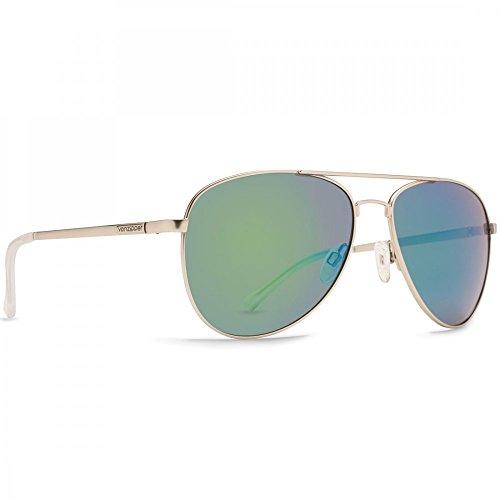 Von Zipper Farva Sunglasses Silver Satin ~ Quasar - Sunglasses Farva