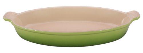 Le Creuset Heritage Stoneware 3.1-Quart Oval Au Gratin Dish, Palm