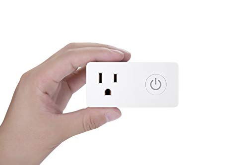 BN-LINK WiFi Heavy Duty Smart Plug Outlet, No Hub Required with Energy Monitoring and Timer Function, White, Compatible with Alexa and Google Assistant, 2.4 Ghz Network Only (2 Pack)