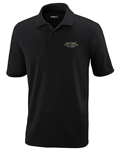 Beer Polo Shirts (Craft Beer Isn't Alcoholism ItS Hobby Sew Polyester Performance Polo Shirt Black Large)