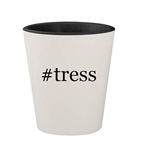 (#tress - Ceramic Hashtag White Outer & Black Inner 1.5oz Shot Glass)