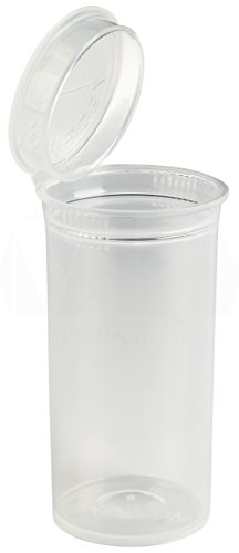 MT Products 13 Dram Pop Top Prescription Bottle (20 Pieces) (Clear) by MT Products