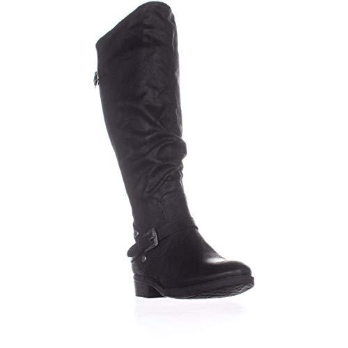 BareTraps Womens Yanessa Closed Toe Knee High Riding Boots, Black, Size 9.0