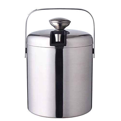 1300ML Double Wall Insulated Stainless Steel Ice Bucket Wine Chiller Iceless Wine Cooler Champagne Bucket With Handle Portable