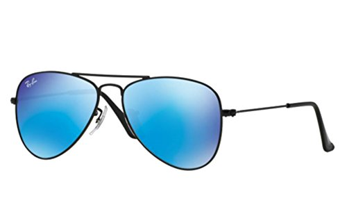 RAY-BAN KIDS RJ 9506S Blue Mirror Aviator Sunglasses Authentic + SD - Junior Ban Aviators Ray