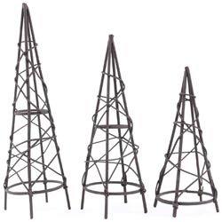 Obelisk Design (Bulk Buy: Midwest Design (3-Pack) Mini Garden Obelisk Assortment 3/Pkg Rustic MD50563)