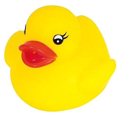 Novelty Place Float and Squeak Rubber Duck Ducky Baby Bath Toy for Kids (12 Pcs)