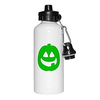 Style In Print Jack-O-Lantern Image Aluminun White Water Bottle