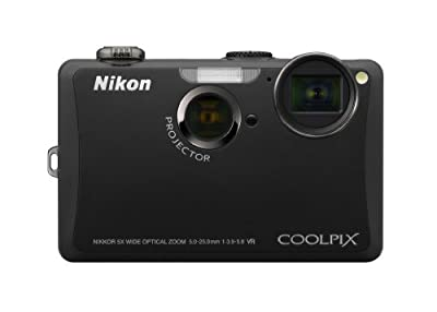Nikon Coolpix S1100pj 14 MP Digital Camera with 5x Wide Angle Optical Vibration Reduction (VR) Zoom and 3-Inch LCD and Built-in Projector by Nikon
