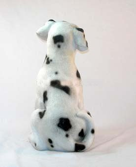 Decorative Energy Saving Dalmatian Dog with Lantern Solar Light