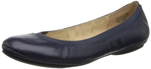 Bandolino Women's Edition Ballet Flat,Navy,8 M US Bandolino Leather Flats