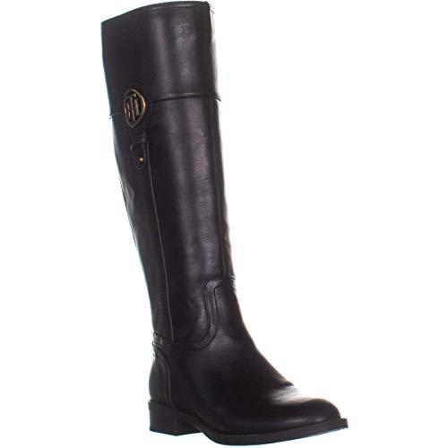 Tommy Hilfiger Womens ILIA4 Closed Toe Knee High Fashion Boots, Black, Size 7.0