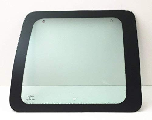 NAGD Fits 1992-1995 Ford Econoline Van Passenger Right Side Back Window Rear Glass Movable Clear ()