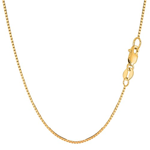 14k Yellow Gold Classic Mirror Box Chain Necklace, 1.0mm, 20