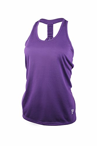 Price comparison product image Racerback Tank / Cool Comfort with Moisture-Wicking Poly-Rayon by Privagio(Purple)