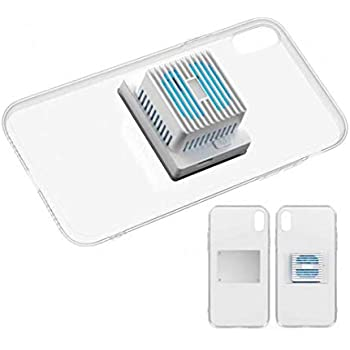 EEIEER Mobile Phone Cooler, Semiconductor Fast Cooling Cellphone Fan 2 in 1 Portable Aluminum Ice Porcelain Radiator Phone Case Suitable for iPhone X/XS