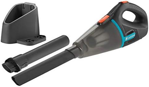 Gardena Set Outdoor Handsauger EasyClean Li (inkl. Wandhalterung): Akku-Sauger für feuchte und trockene Partikel, hohe Saugleistung (9340-20)