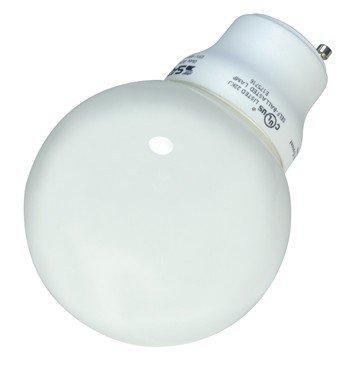 (Pack of 6) Satco S8221, 15 Watt (60 Watt) 740 Lumens Globe CFL Soft White 2700K GU24 Base, Compact Fluorescent Light - Compact Globe