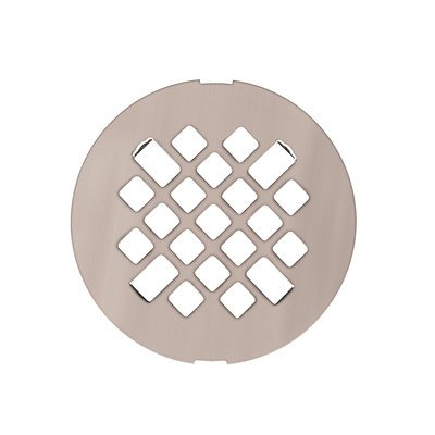 Swanstone DC-MD-187 Fit-Flo Metal Drain Cover, Brushed Nickel Finish by Swanstone