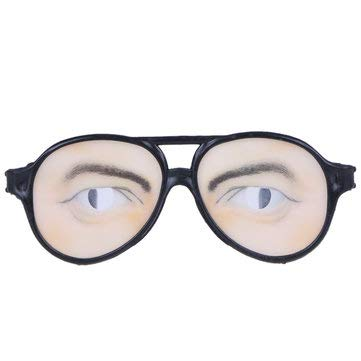 Decorative Crafts Simulation Decorative Props - Costume Party April Fool's Day Eyewear Toys Funny Glasses Mask Masquerade Cosplay Makeup Glasses Funny Costume Eye Glasses Toy Party Prop Gag Gift - M ()