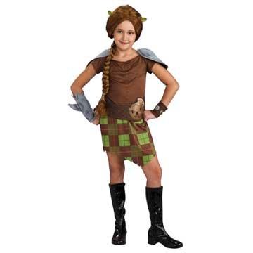 Shrek Child's Costume, Princess Fiona Warrior Costume
